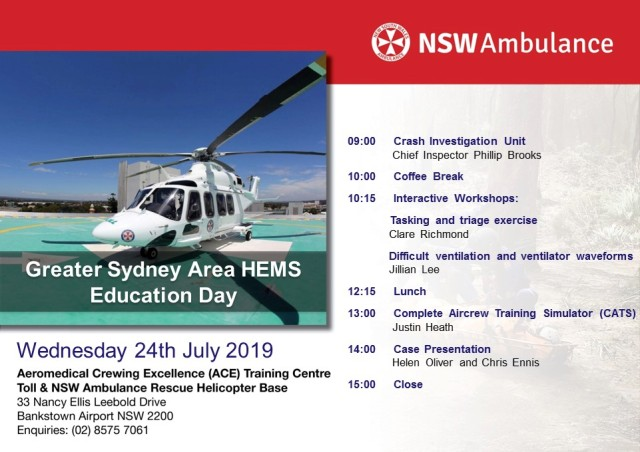 Greater Sydney Area HEMS | The Pre-hospital & Retrieval Medicine